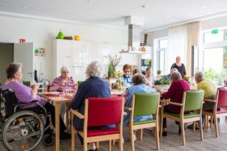 Gemeinsame Mahlzeiten sind Kernbestandteil des Lebens in der Senioren-WG.
